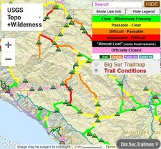 Trail Conditions Map